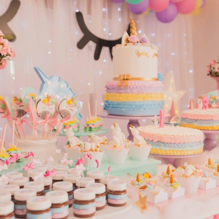 cakes and cookies and party and pink