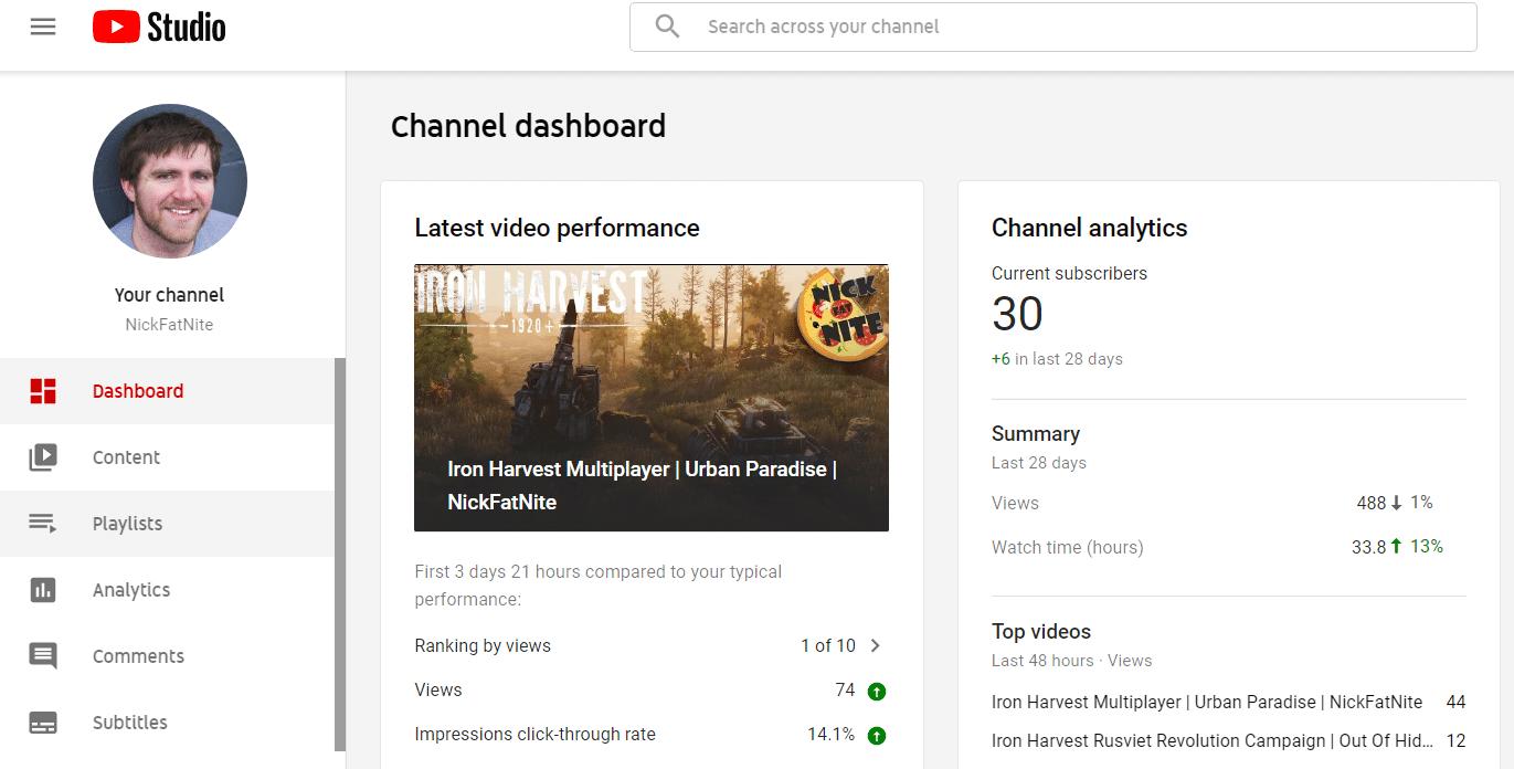youtube studio playlist