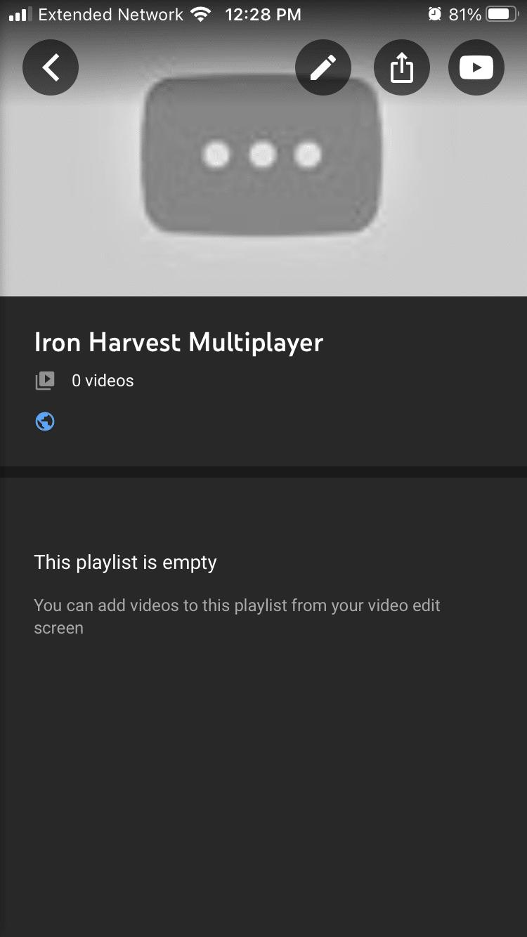 delete playlists edit button
