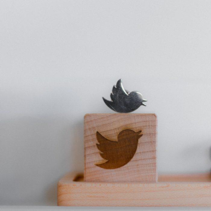 wooden twitter tile