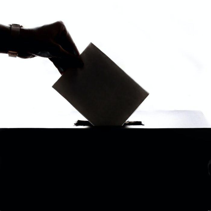 putting vote in box