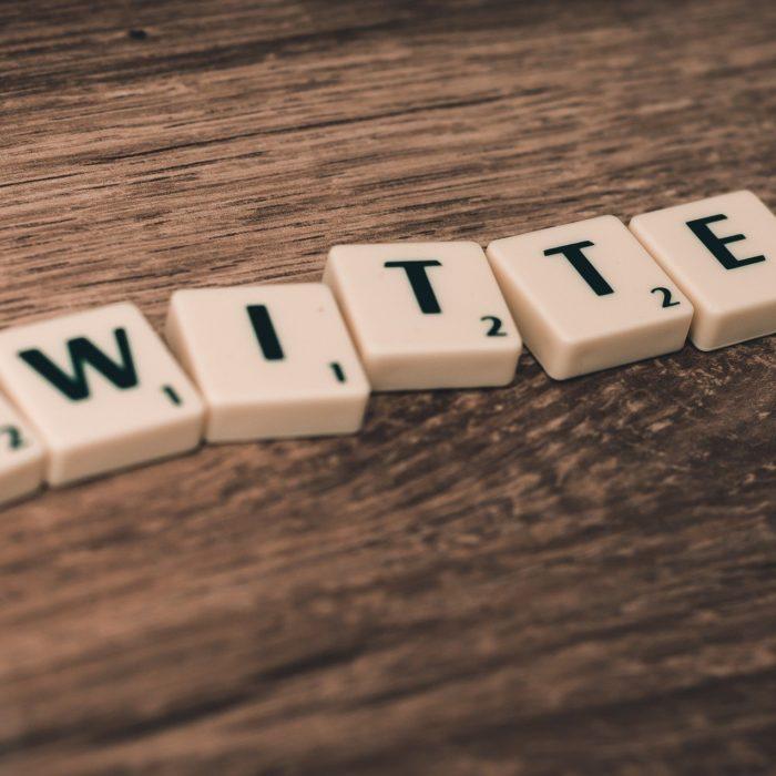 twitter written in tiles
