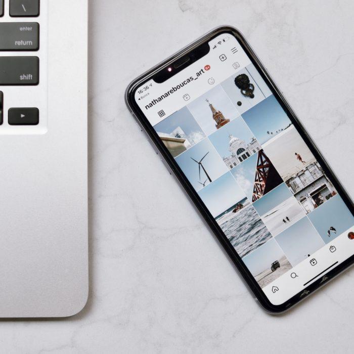 Instagram Laptop Phone